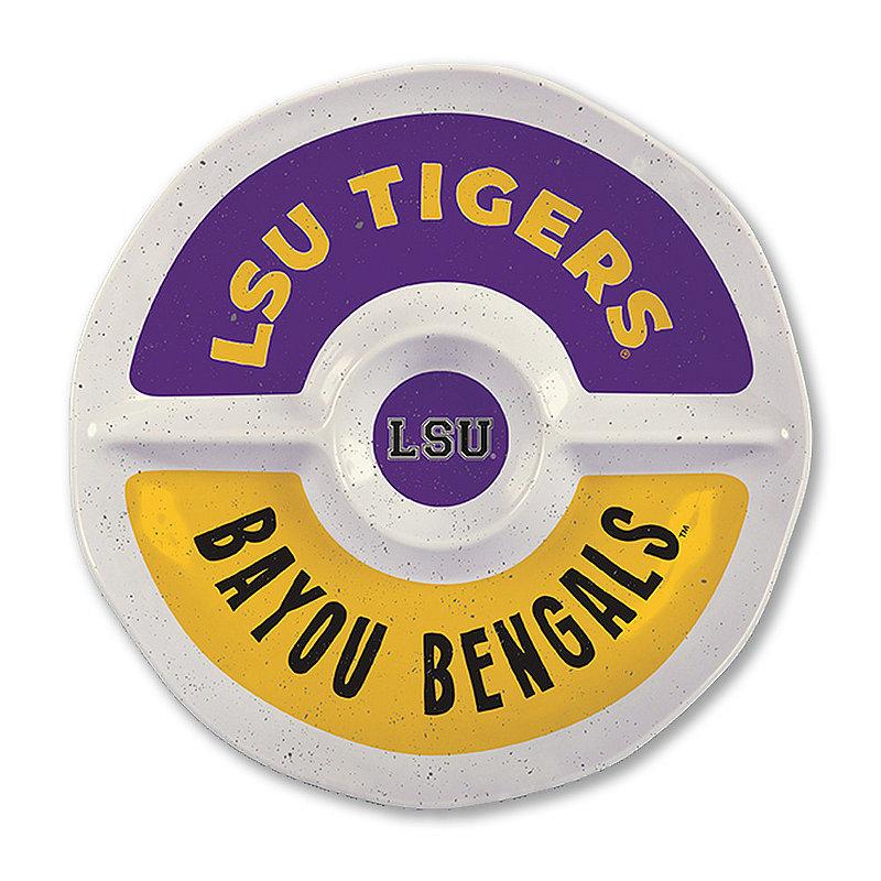 """LSU Tigers Round Serving Tray 15"""" LSU MEL ROUND SEC 15"""