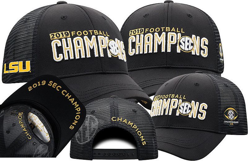LSU Tigers SEC Champs Hat 2019 Locker Room SECM-FTBLC-19C-LA4G