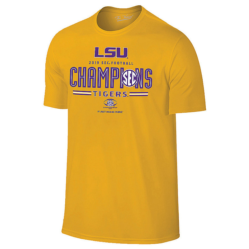 LSU Tigers SEC Champs Tshirt 2019 Locker Room Gold VLS9597B