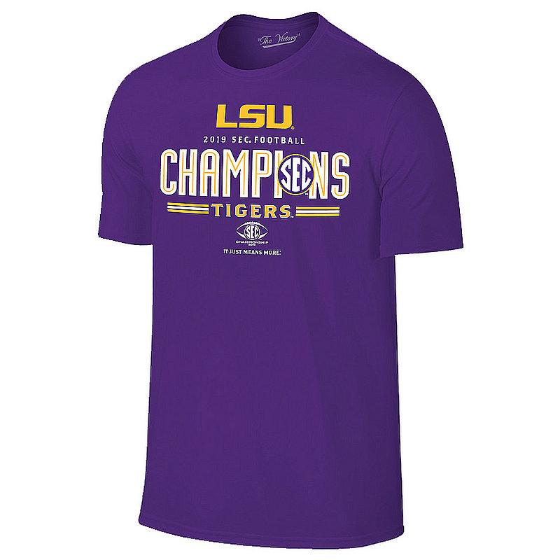 LSU Tigers SEC Champs Tshirt 2019 Locker Room VLS9597A