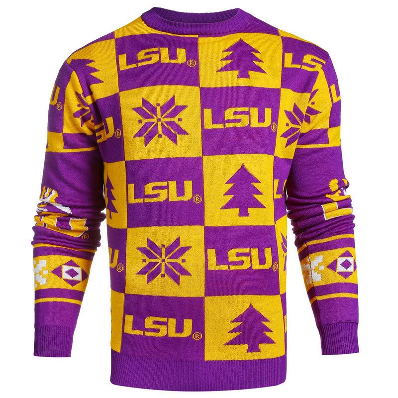 LSU Tigers Ugly Christmas Sweater SWTCNNC16PATLSU