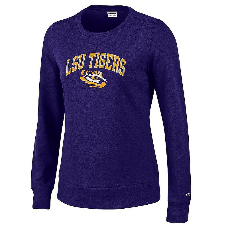 LSU Tigers Women's Crewneck Sweatshirt Varsity Purple APC03324880