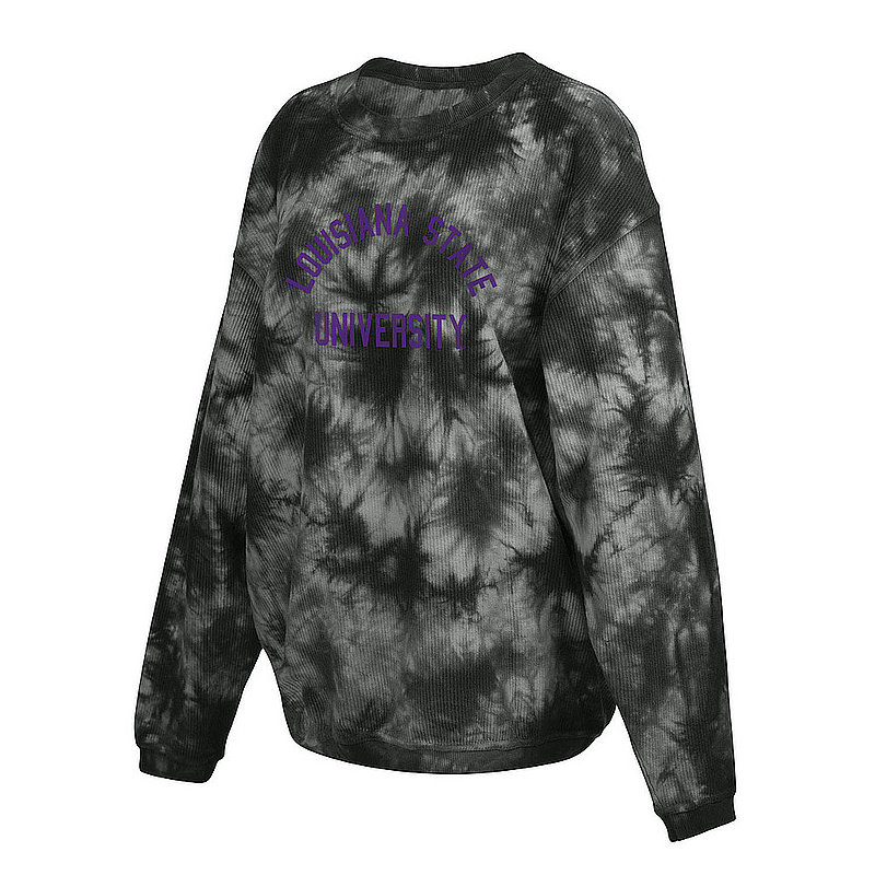 LSU Tigers Women's Tie-Dye Corded Crewneck Sweatshirt 443-49-LA519