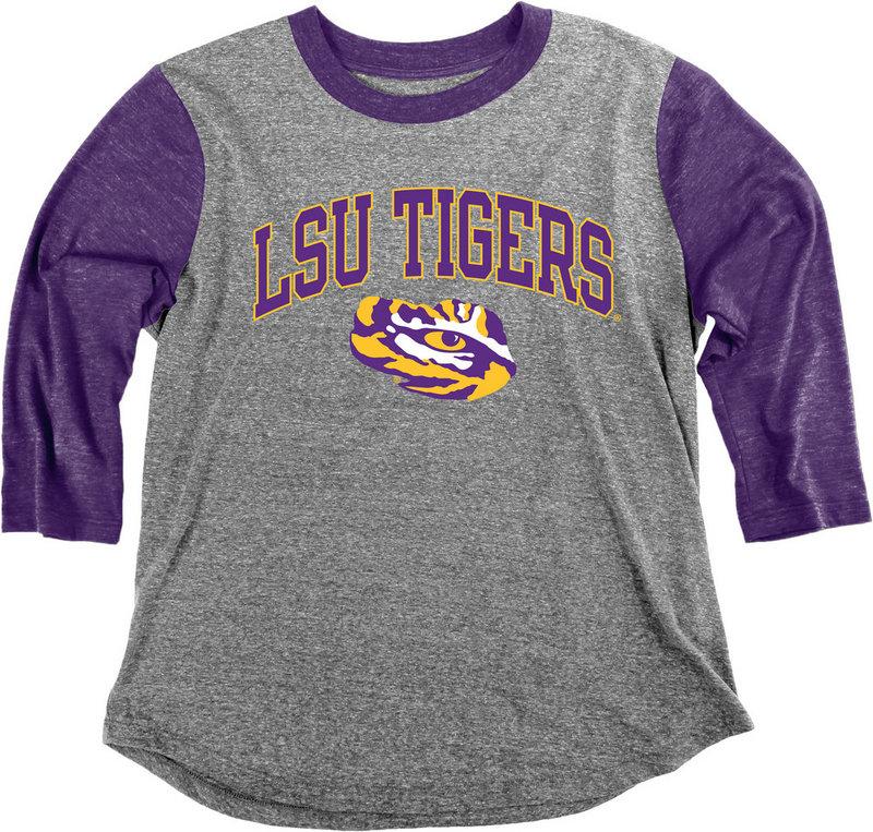LSU Tigers Womens 3/4th Sleeve Tshirt