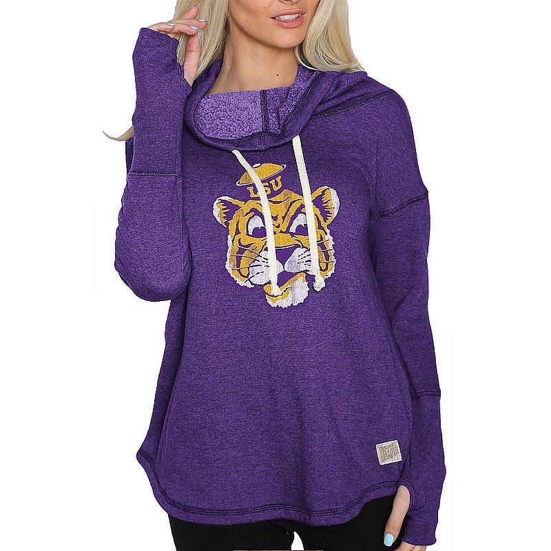 LSU Tigers Womens Funnel Neck Sweatshirt CLSU049S_RB1920M_HPU