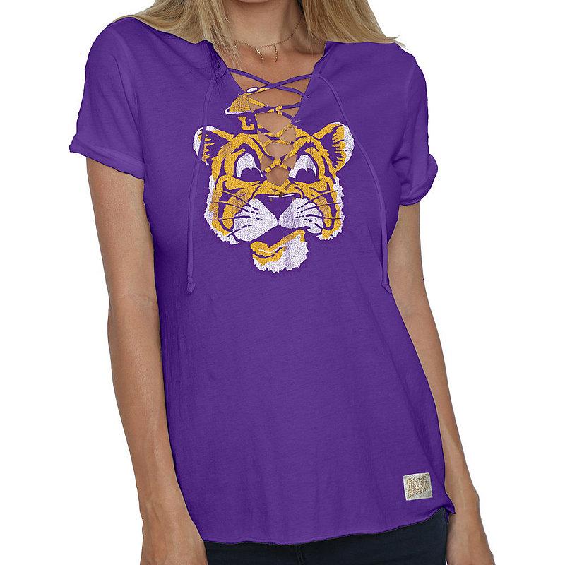 LSU Tigers Womens Lace Up TShirt RB2001_CLSU049V_PUR