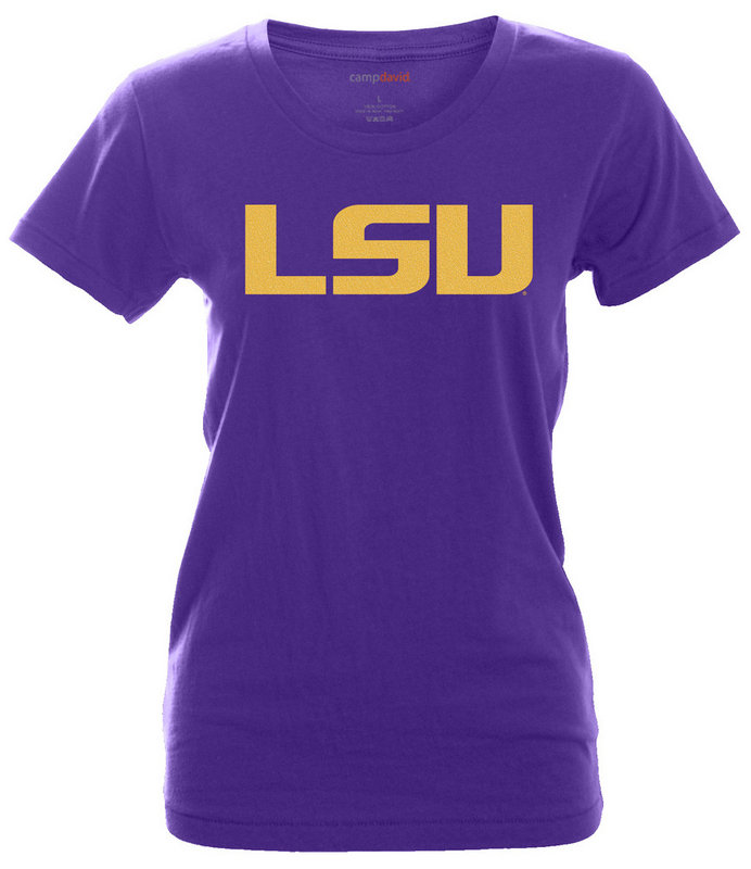 LSU Tigers Womens Tshirt Purple