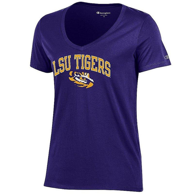 LSU Tigers Womens VNeck TShirt Purple APC03324880