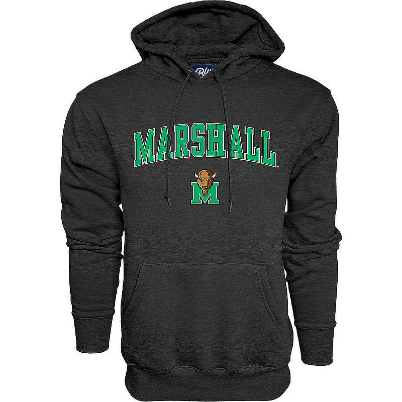 Marshall Thundering Herd Hooded Sweatshirt Arch Charcoal Varsity 00000000BC9C7