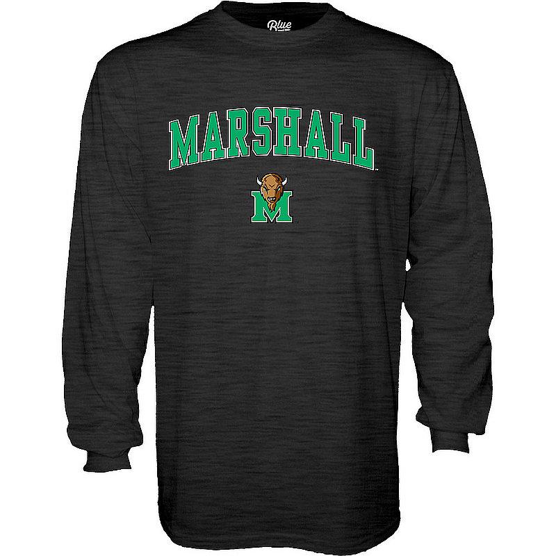 Marshall Thundering Herd Long Sleeve TShirt Arch Charcoal APC03002462