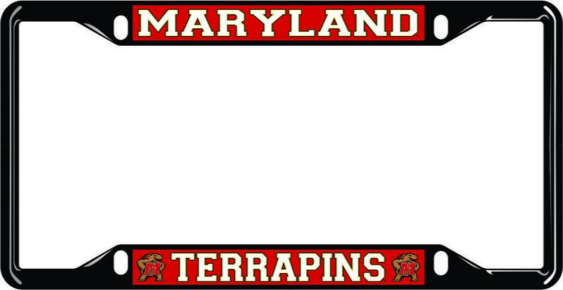 Maryland Terrapins License Plate Frame Black 37664