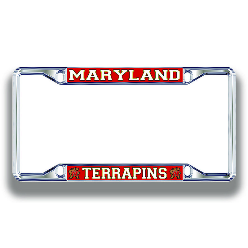 Maryland Terrapins License Plate Frame Silver 37663