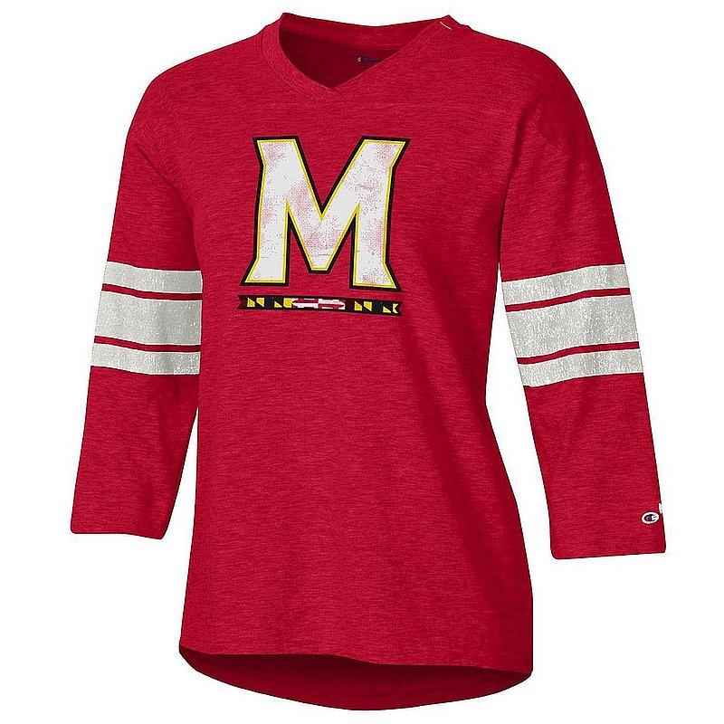 Maryland Terrapins Women's Slub Football TShirt apc03358145