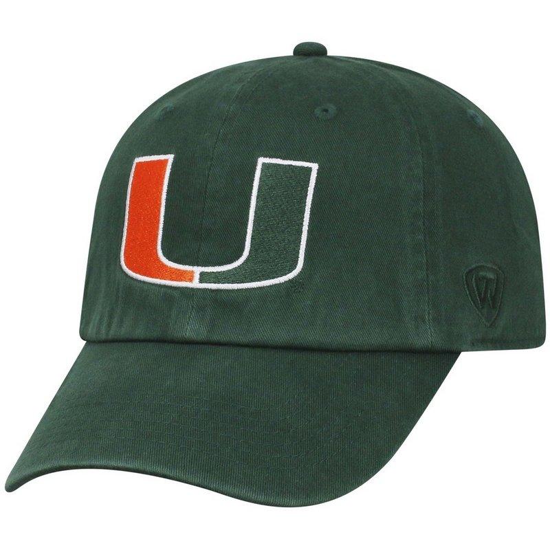 Miami Hurricanes Hat Green CHAMP-MIAMI-ADJ-TMC