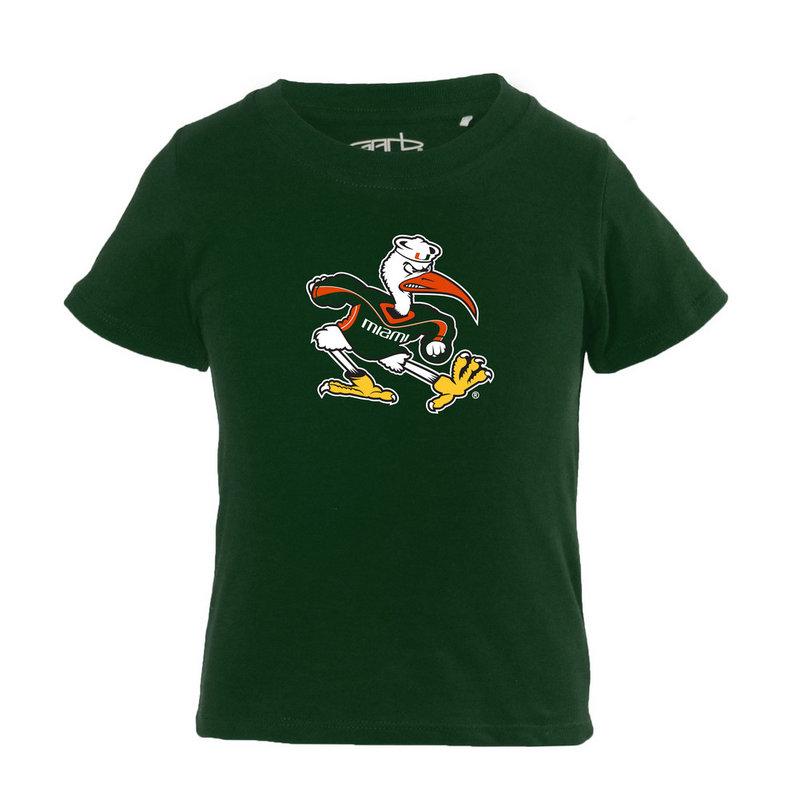 Miami Hurricanes Infant TShirt Green TONI-I-DKGREEN-MIAMI