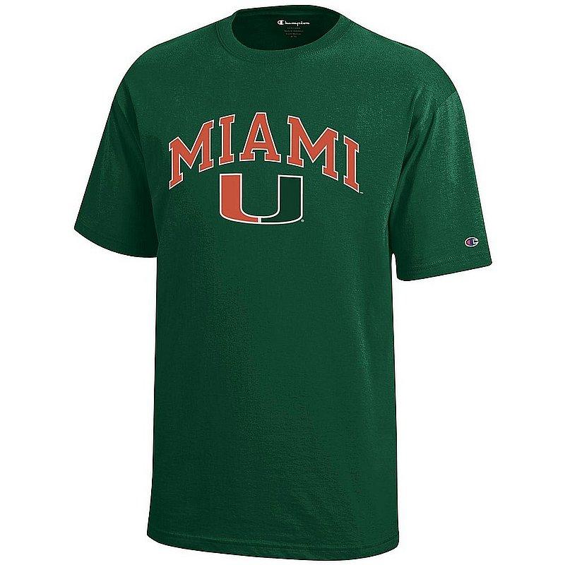 Miami Hurricanes Kids TShirt Arch Green APC03009016