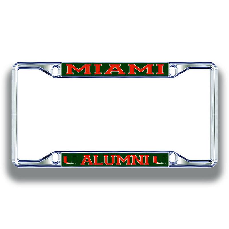 Miami Hurricanes License Plate Frame Alumni 23704