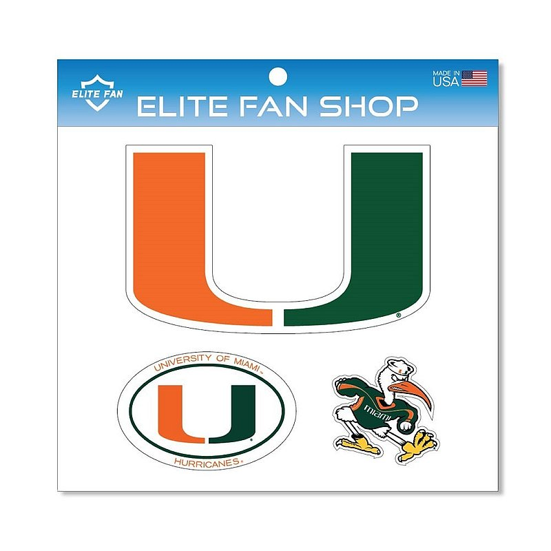 Miami Hurricanes Magnet 3-Pack