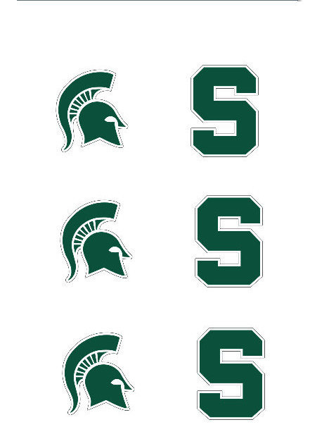 "Michigan State Spartans 3"" Vinyl Decal 6-Pack"