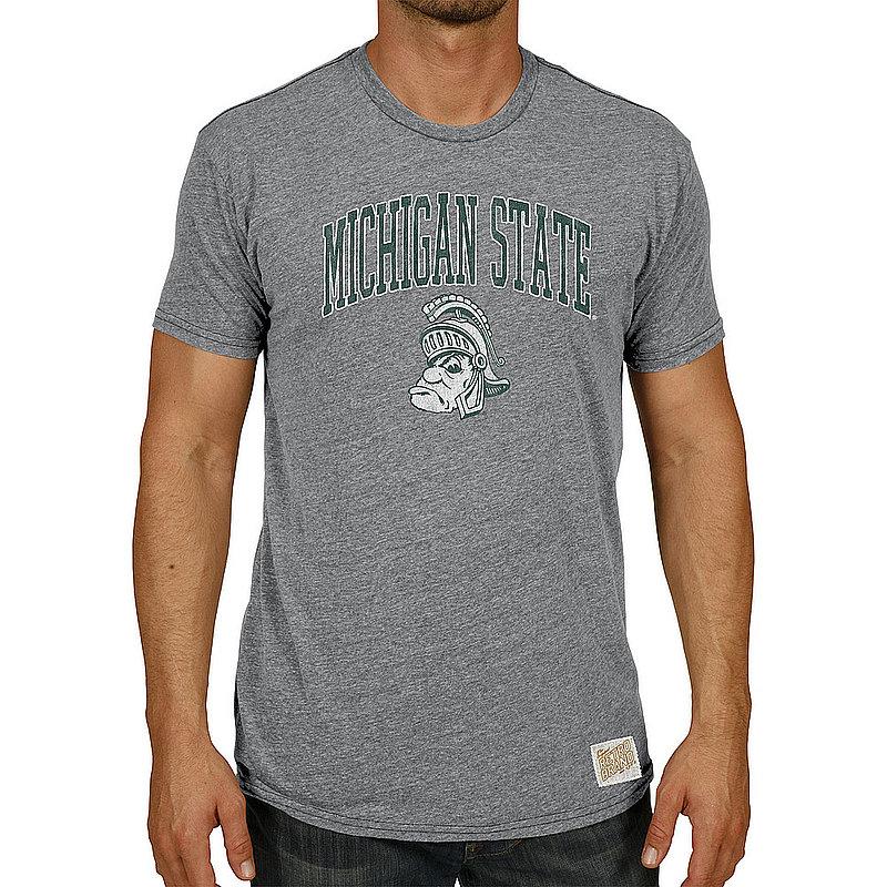 Michigan State Spartans Big & Tall Tshirt Gray Vintage MSU008R1AX_RB120M_STG