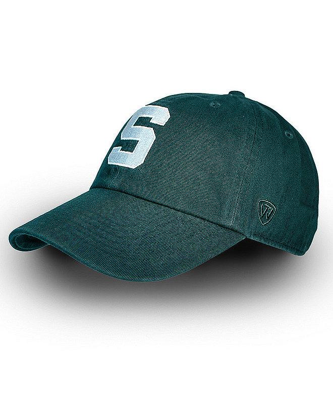 Michigan State Spartans Hat Icon Green CREW-MIST-ADJ-TMC1