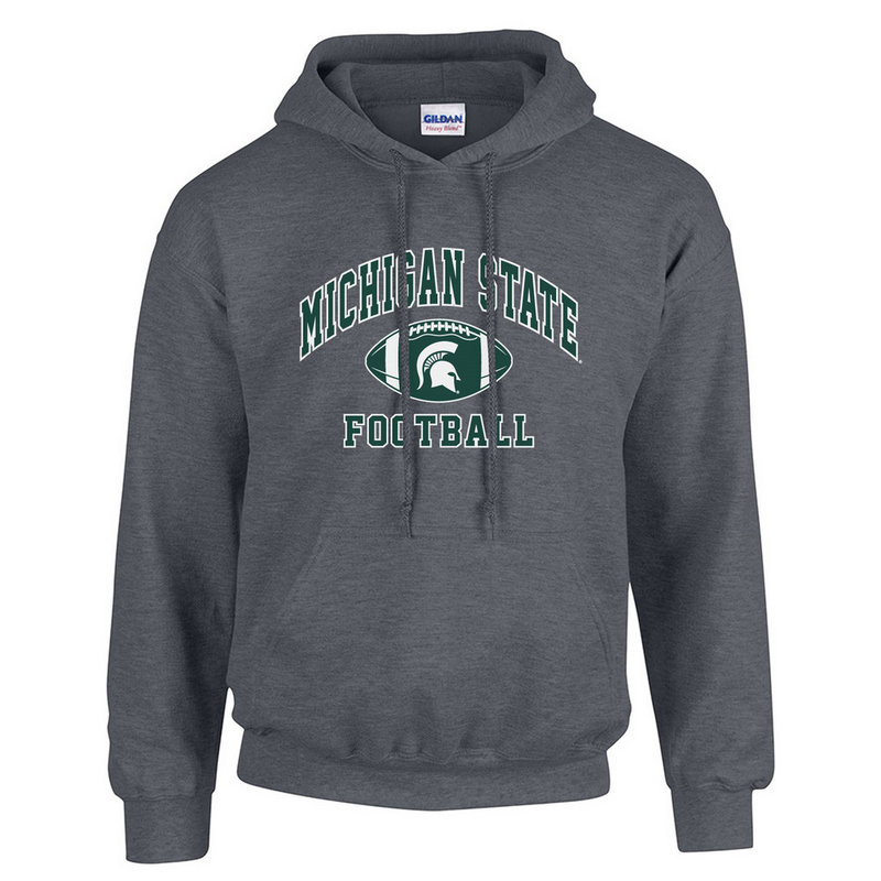 Michigan State Spartans Hooded Sweatshirt Heather Gray P0004959
