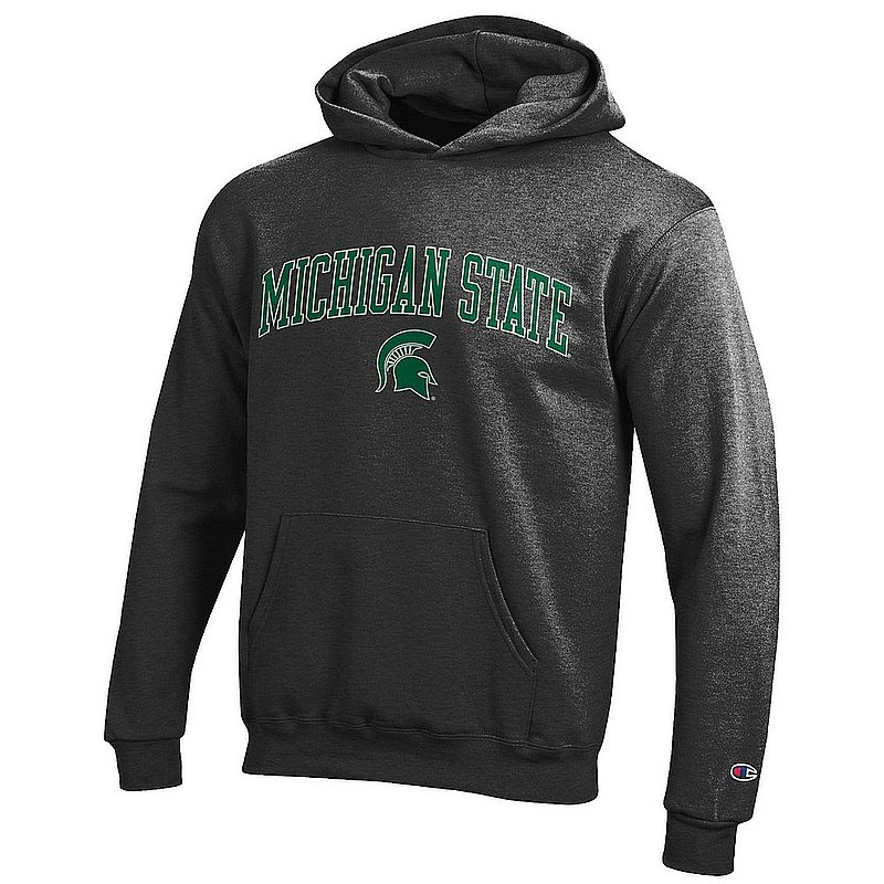 Michigan State Spartans Kids Hooded Sweatshirt Arch Charcoal APC03008693