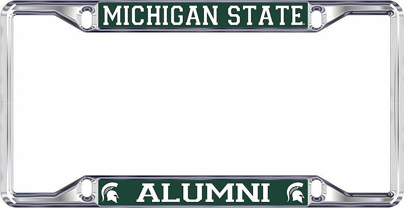 Michigan State Spartans License Plate Frame Alumni 16664