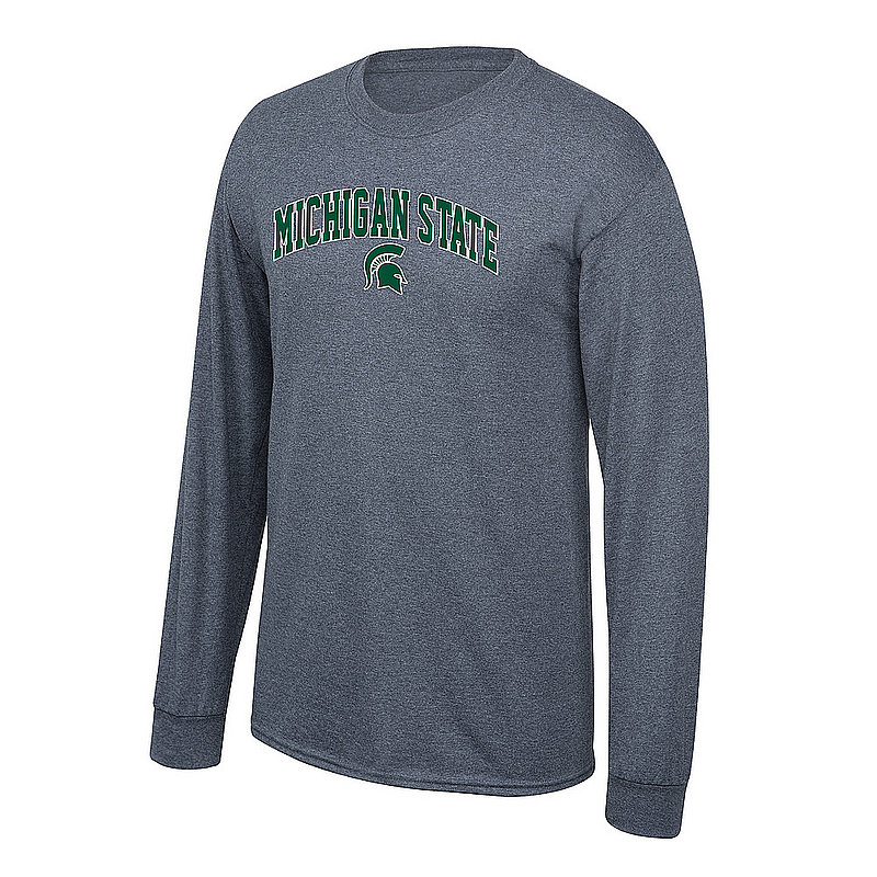 Michigan State Spartans Long Sleeve Tshirt Arch Charcoal P0004962