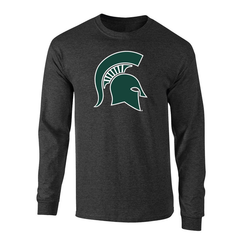 Michigan State Spartans Long Sleeve Tshirt Heather Gray P0006202
