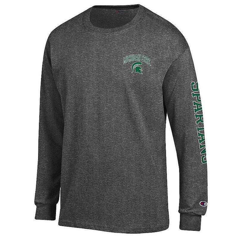 Michigan State Spartans Long Sleeve Tshirt Letterman Charcoal APC02973705/APC02973706