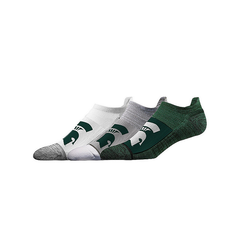 Michigan State Spartans No Show Socks 3-Pack