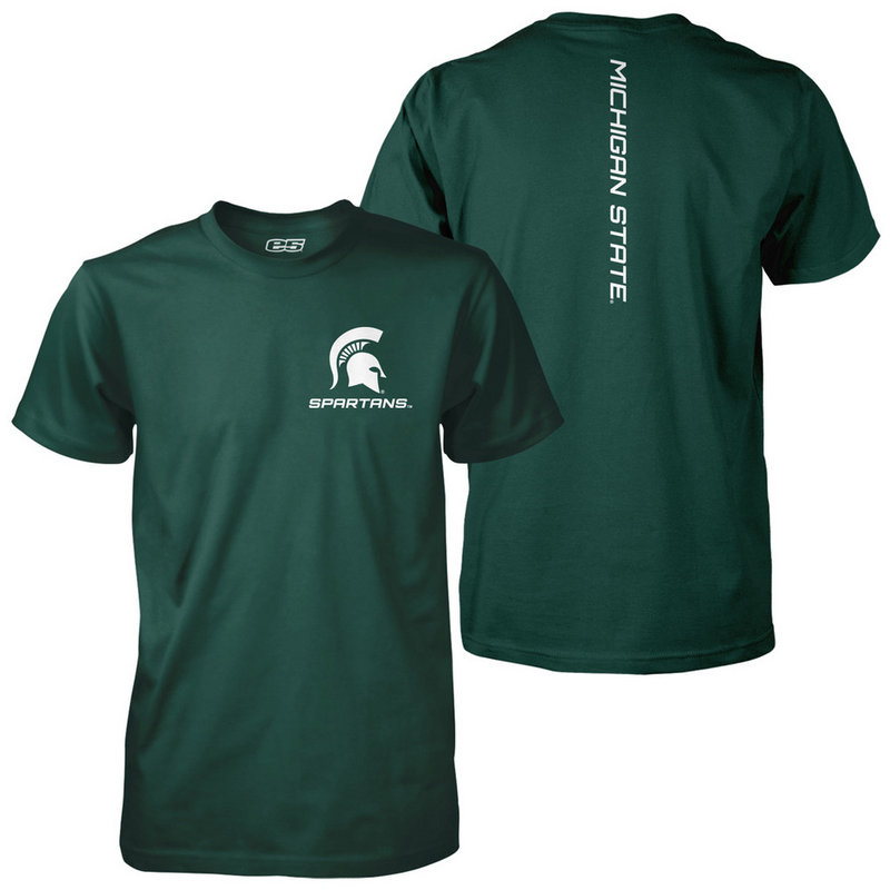 Michigan State Spartans Poly TShirt Captain Green MCT1H715