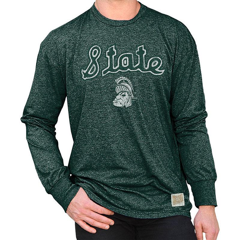 Michigan State Spartans Retro Long Sleeve TShirt Green RB424