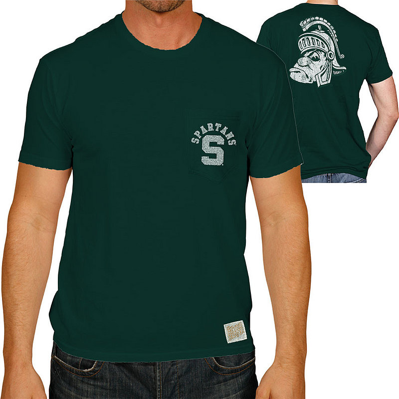 Michigan State Spartans Retro Pocket TShirt Green RB128