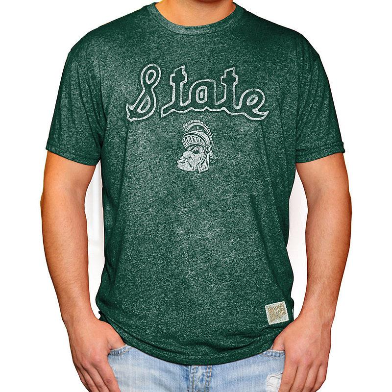 Michigan State Spartans Retro TShirt Green RB124