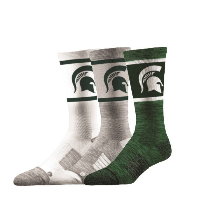 Michigan State Spartans Socks 3-Pack
