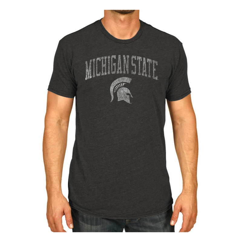Michigan State Spartans Vintage Tshirt Charcoal Victory