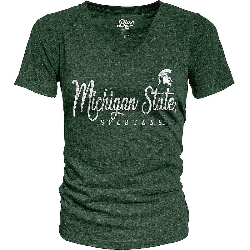Michigan State Spartans Womens TriBlend TShirt Vintage S7FF_JTRV_FORE