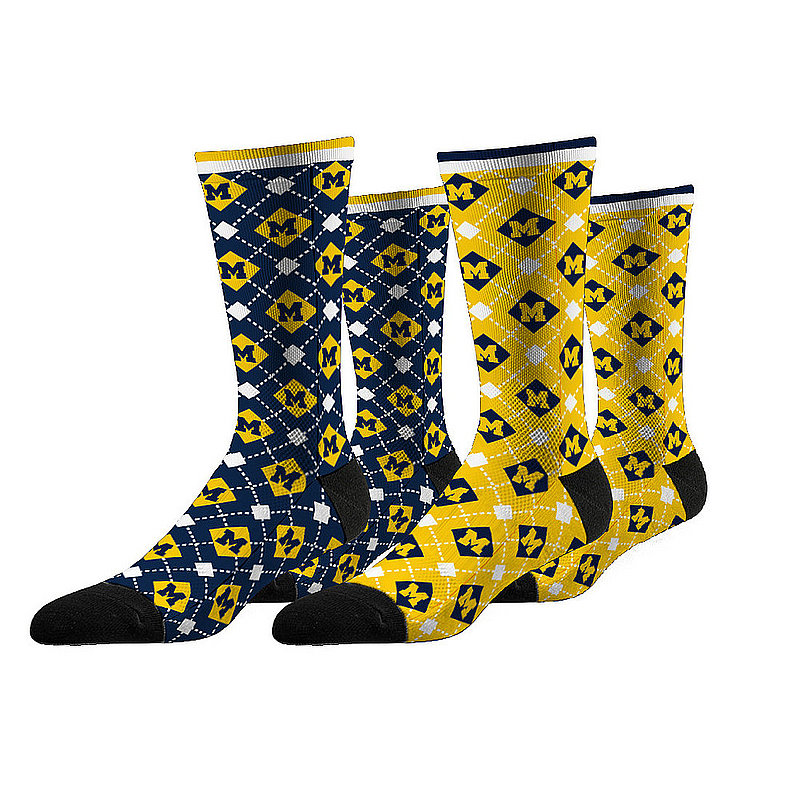 Michigan Wolverines Argyle Sock 2-Pack