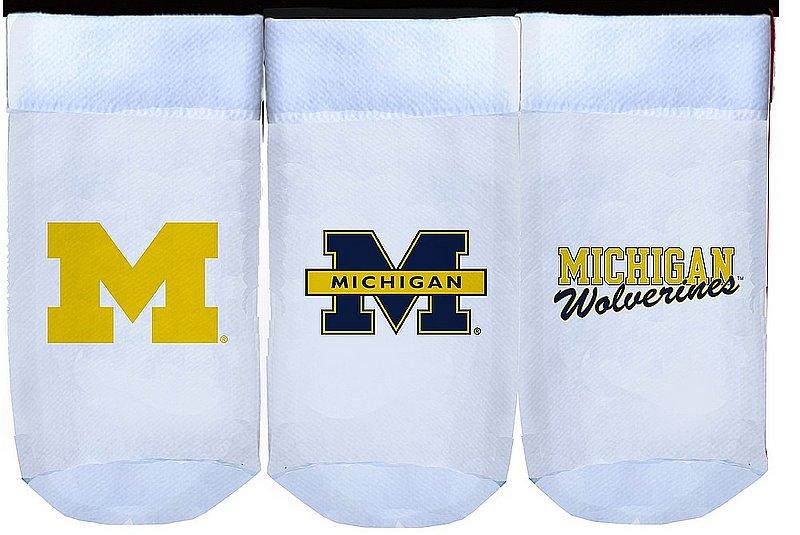 Michigan Wolverines Baby Socks 3-Pack