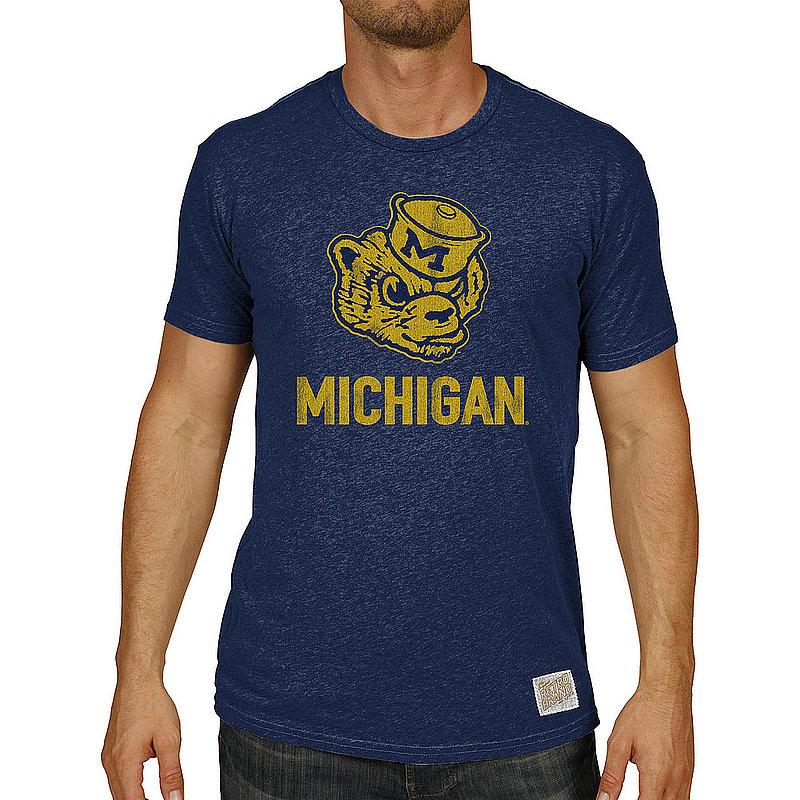 Michigan Wolverines Big & Tall Tshirt Vintage 1XB to 5XB and XLT to 5XLT CMIC204AX_RB130M_HNV