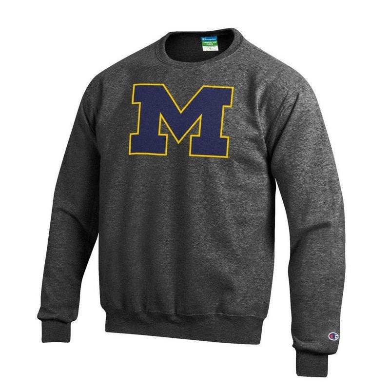 Michigan Wolverines Crewneck Sweatshirt Charcoal APC02867872