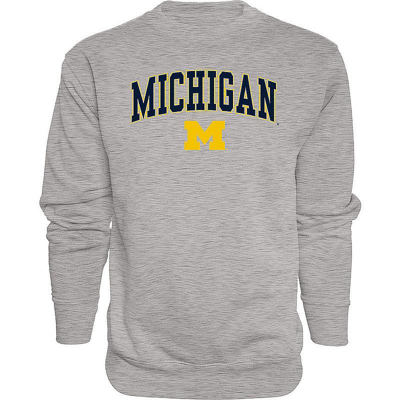 Michigan Wolverines Crewneck Sweatshirt Varsity Gray APC02845656