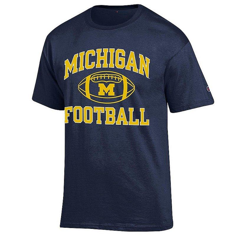 Michigan Wolverines Football TShirt Navy APC03030869