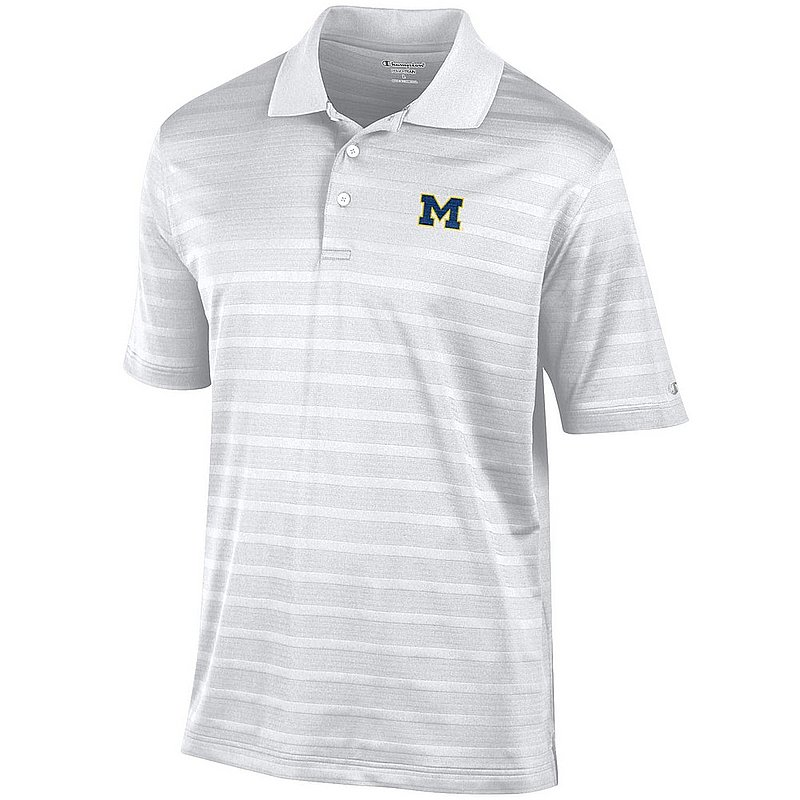 Michigan Wolverines Golf Polo White AEC02961898