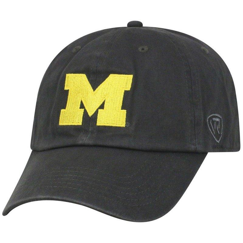 Michigan Wolverines Hat Yellow Icon Charcoal CREW-MI-ADJ-CHR