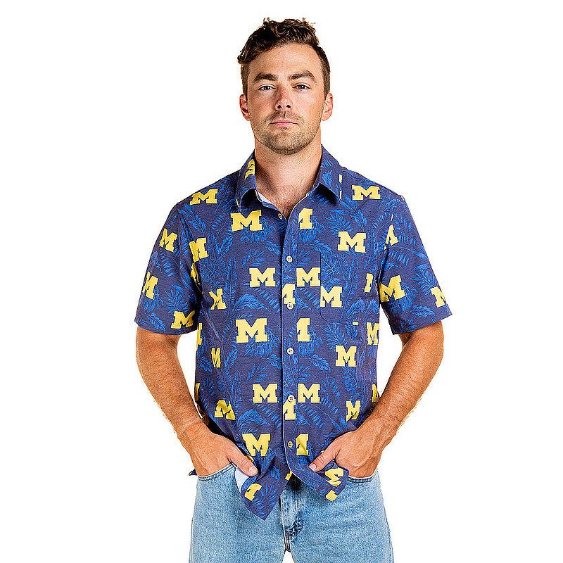 Michigan Wolverines Hawaiian Shirt Floral MPL-SRWNCAA-LS1327