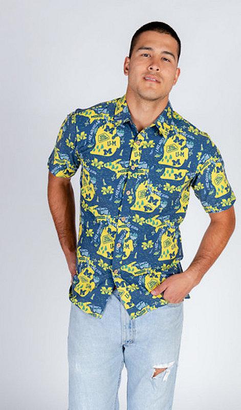 Michigan Wolverines Hawaiian Shirt MPL-SRWQ319-LS1710