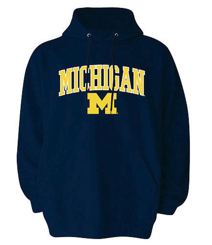 Michigan Wolverines Hooded Sweatshirt Arch Navy